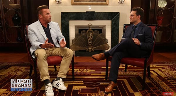 Arnold Schwarzenegger Chats With Graham Bensinger About The Movie