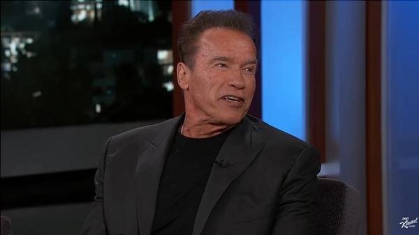 Arnold Schwarzenegger Chats With Jimmy Kimmel About Son-In-law Chris Pratt, Pranking Sylvester Stallone, And Terminator's Return