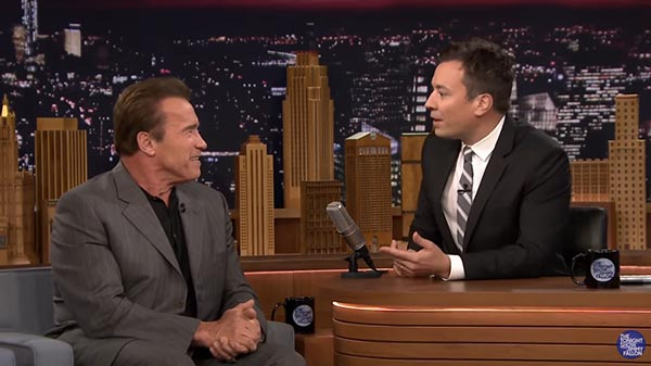 Arnold Schwarzenegger And Jimmy Fallon Chat About Smoking Cigars During An Interview On The Tonight Show