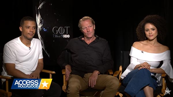 Nathalie Emmanuel, Jacob Anderson, And Iain Glen Chat With Access Hollywood About 'Game Of Thrones' Success And Fans