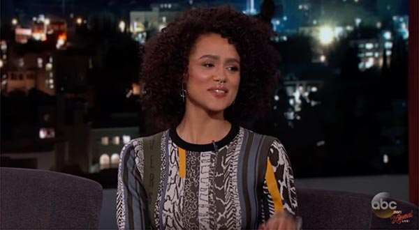 Nathalie Emmanuel Talks To Jimmy Kimmel About How She Got The Part On 'Game of Thrones'