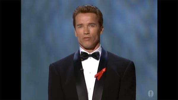 Arnold Schwarzenegger Presents Clint Eastwood With The Irving G. Thalberg Memorial Award